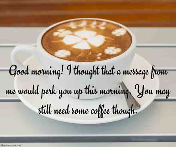 coffee good morning text