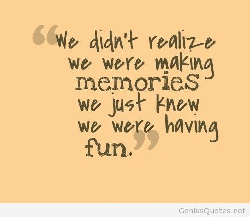 The Caffeinated Coach : Day 30: Making Memories-#SOL17