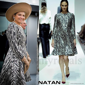 Queen Maxima wore NATAN Print Dress