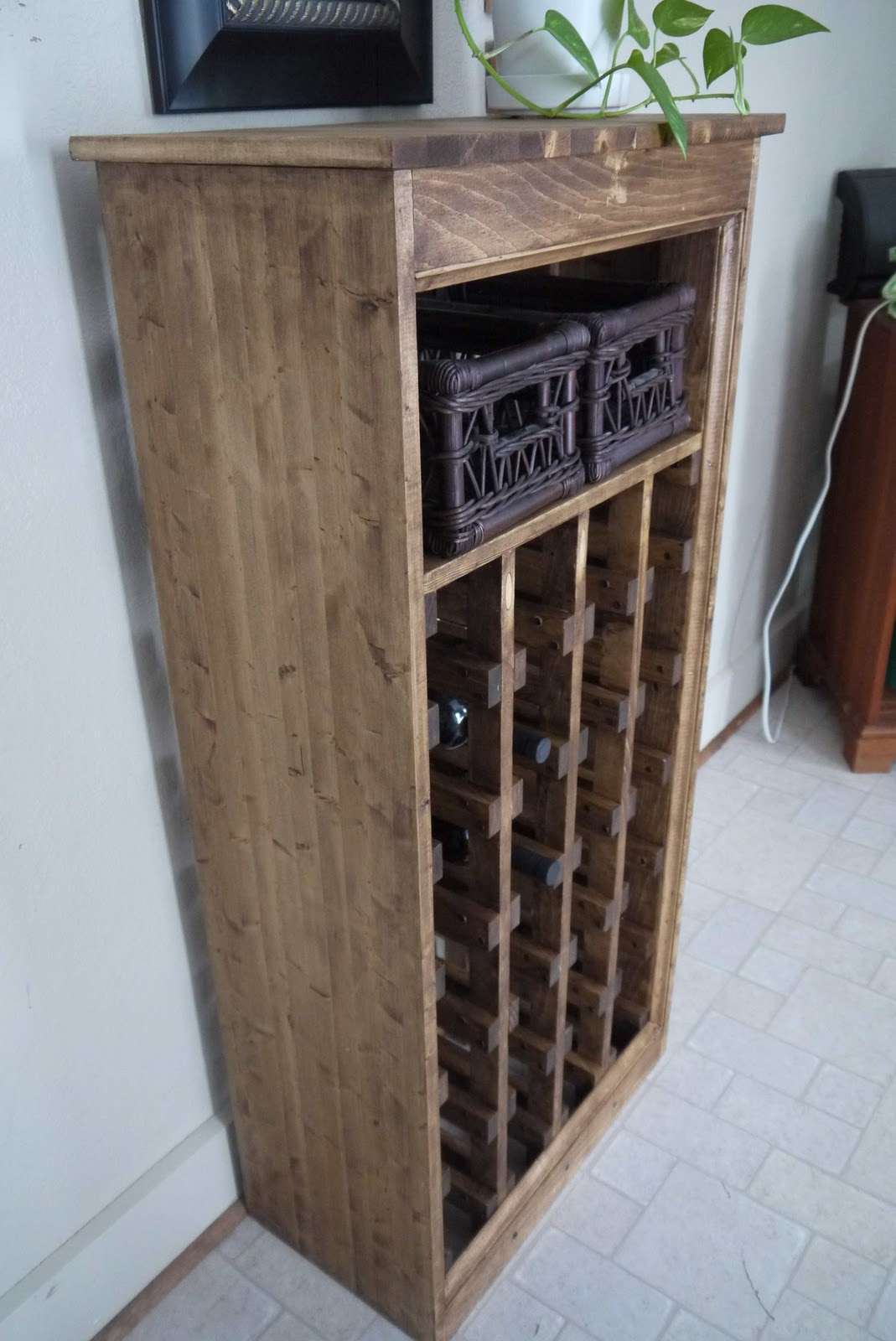 Diy Wine Storage Rack Rhubarb Diaries Diy Wine Rack Completed