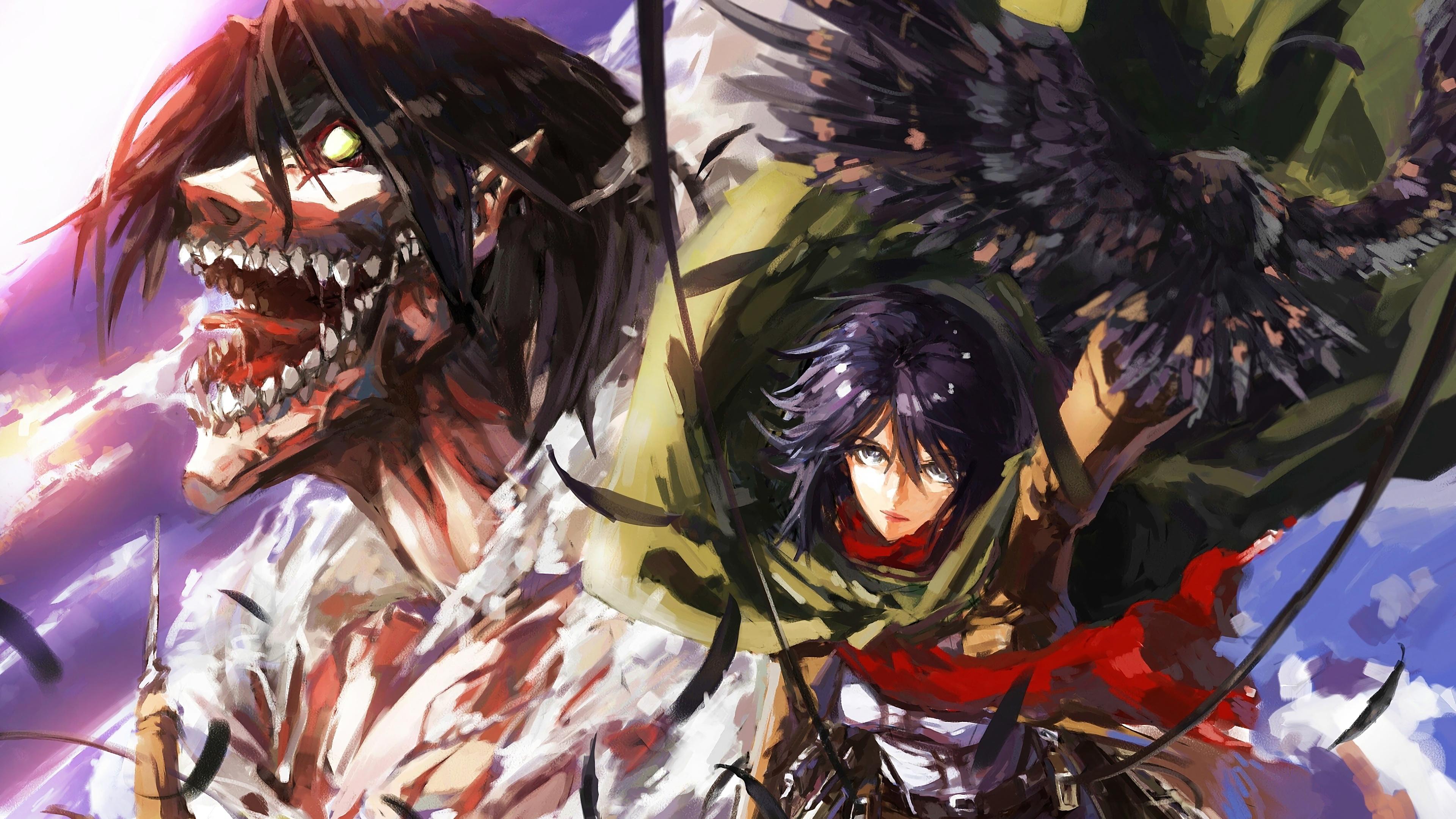 Hajime isayama, kodansha/''attack on titan'' production committee attack on titan has taken the anime world by storm. Mikasa, Attack Titan, Attack on Titan, 4K, #48 Wallpaper