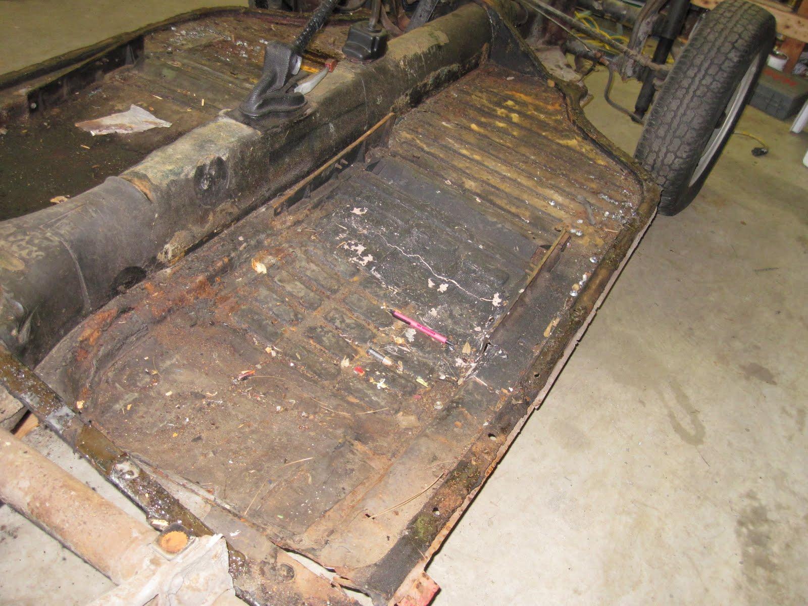 Hanks 1972 VW Ghia Build Floor Pan Prep  Replacement