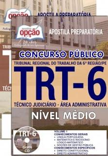 Apostila Concurso TRT-Pernambuco da 6ª Região - Técnico Judiciário