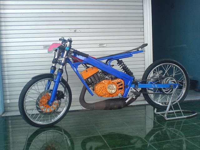 Modifikasi Motor Drag Shogun 125