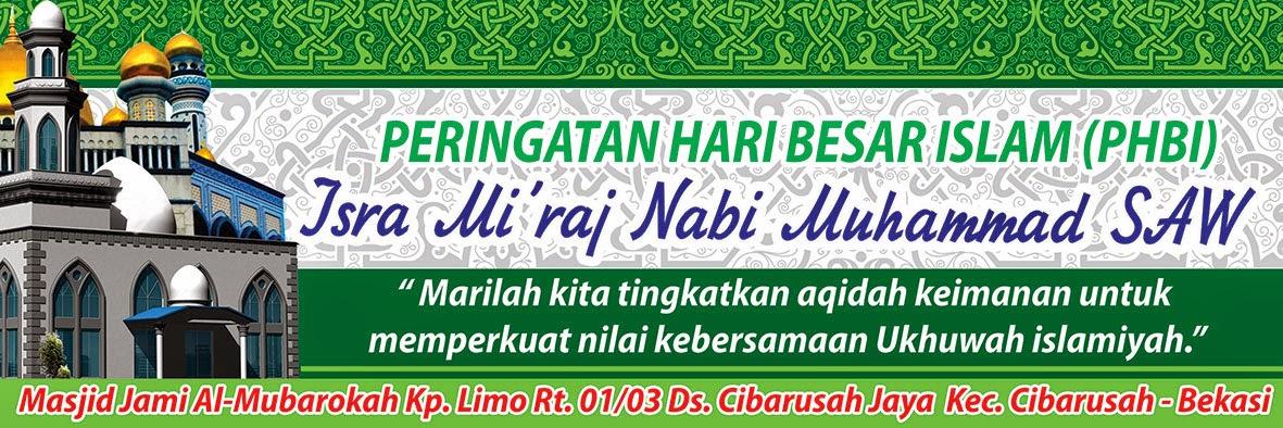 contoh Desain Banner Isra Mi'raj Masjid Al-Mubarokah ...