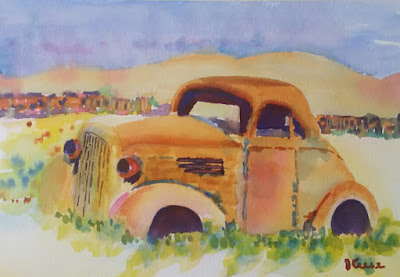 OldRustyCar Watercolor JKeese
