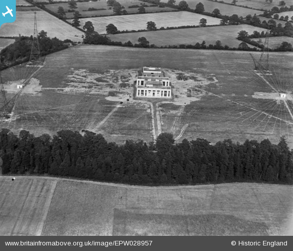 Photograph of The BBC Radio Transmitting Station, Brookmans Park, 1929. This image has been produced from a print.