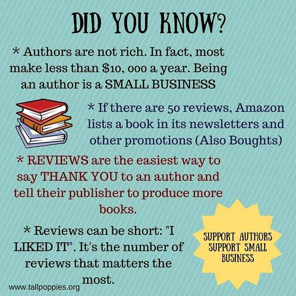 Book reviews for authors