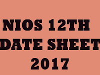 NIOS 12th Date Sheet 2017
