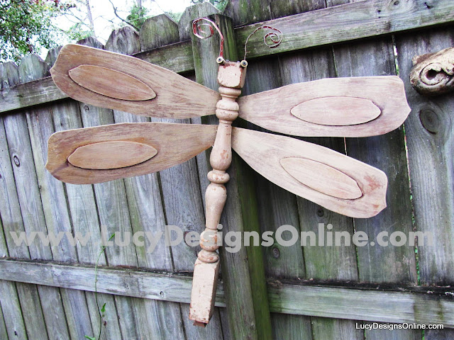 The Original Table Leg Dragonflies with Ceiling Fan Blade ...