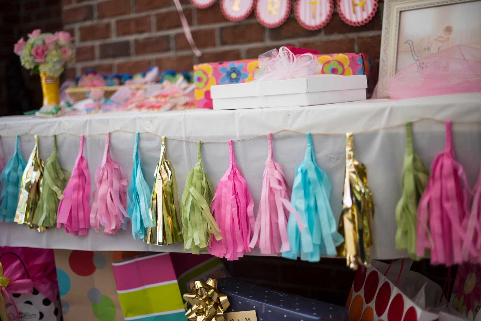 Tassel Banner - Click through to see more on Something Delightful Blog