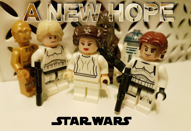 C-3PO, R2-D2, Leia, Luke Skywalker, Chewbacca, Han Solo, A New Hope lego