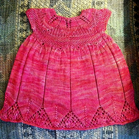 Eli Baby Dress free Knitting Pattern