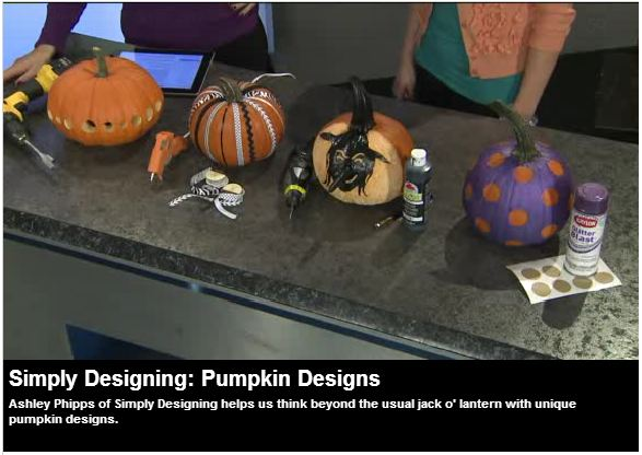 5 simple ways to Carve and Decorate your Pumpkins: VIDEO from Simply Designing #pumpkins #pumpkincarving #halloween #carvingpumpkins