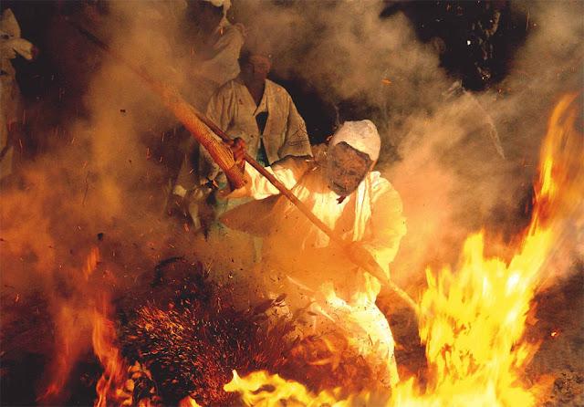 Kebesu-sai (Fire Fighting Festival), Kunisaki City, Oita Pref.