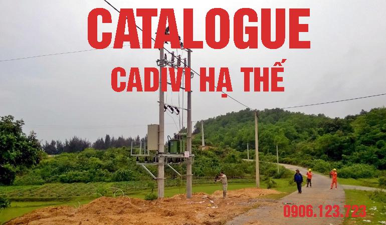 Catalogue Cadivi hạ thế chính hãng giá gốc