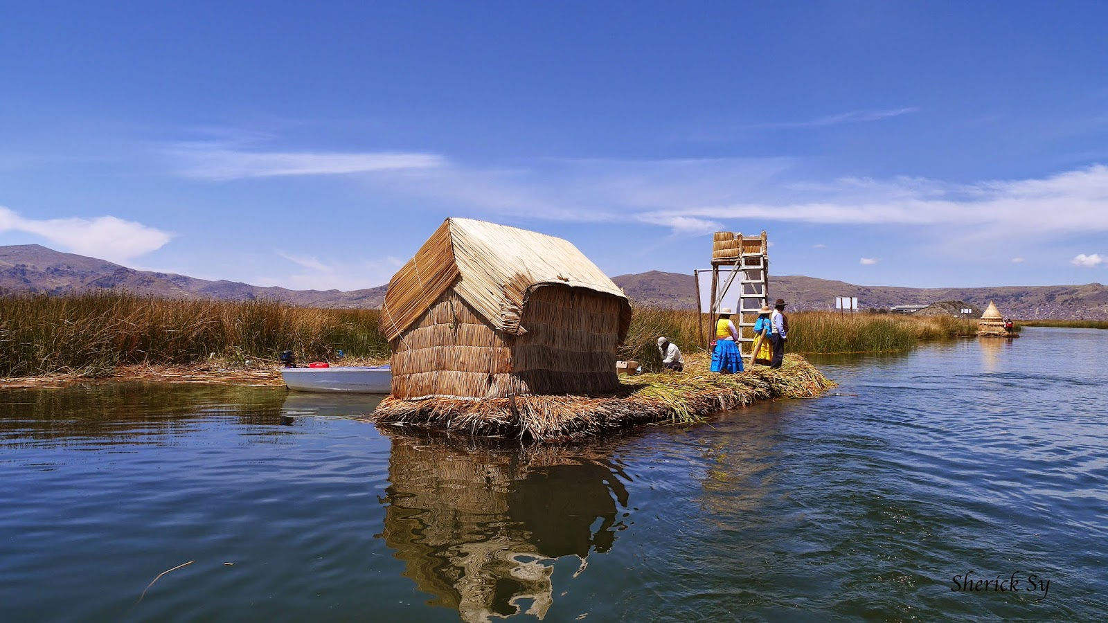 Entrance to the Floating Islands of Uros, Peru