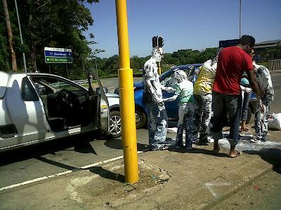 paint accident