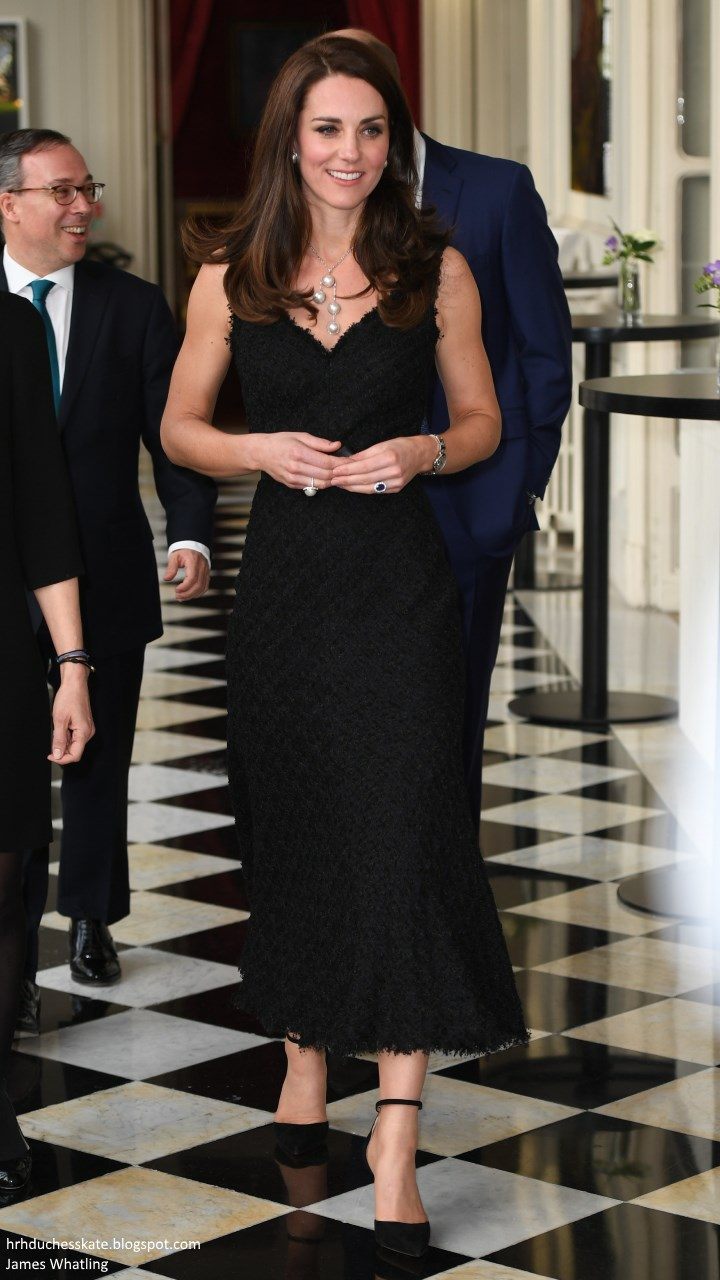 df92f9738498 The Duke and Duchess of Cambridge began their whirlwind visit of Paris in  style. This evening, the Duchess looked incredible in a lace black dress  and ...