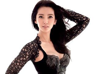 Chines Celeb Li Bingbing Hot In Black Lingerie