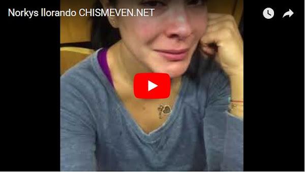 Norkys Batista llorando por la emigración masiva de venezolanos