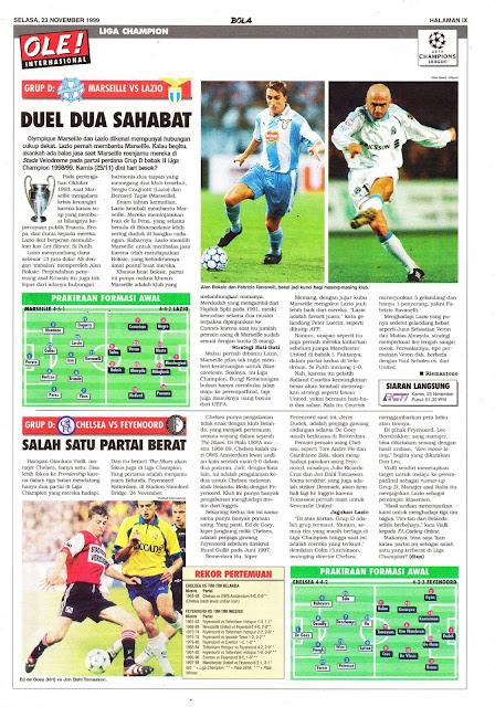CHAMPIONS LEAGUE MARSEILLE VS LAZIO DUEL DUA SAHABAT