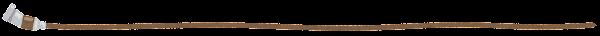 絵の具のライン素材(茶色)