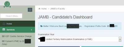 Locate JAMB Profile Code in your Account