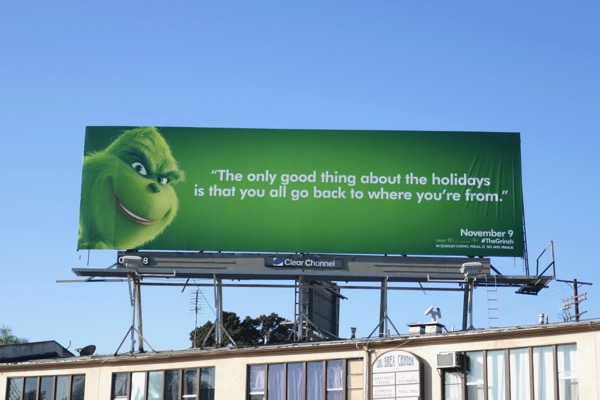 Grinch holidays billboard