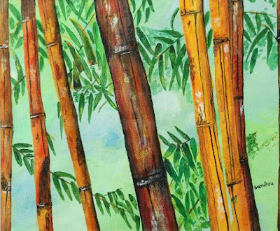 Bamboo Tree - 1 by Sandhya Joshi ( part of her portfolio on www.indiaart.com )