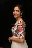 Ritu Varma smiling face Cream Anarkali dress at launch of OPPO New Selfie Camera F3 ~  Exclusive 033.JPG