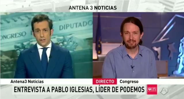 (Vídeo) Lluvia de ZASCAS de Pablo Iglesias a un presentador de Antena 3