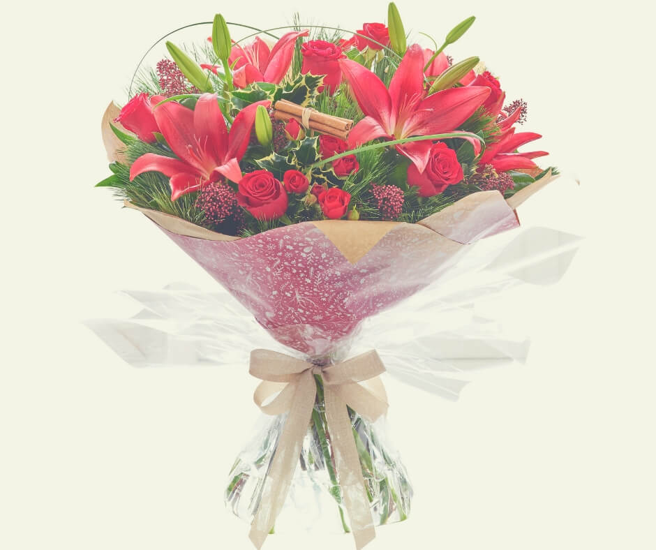Christmas Gift Ideas For Your Wife / Husband | Flowers this time of year will brighten your wife's day!