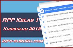 Download Gratis RPP Kelas 1 Kurikulum 2013 Lengkap