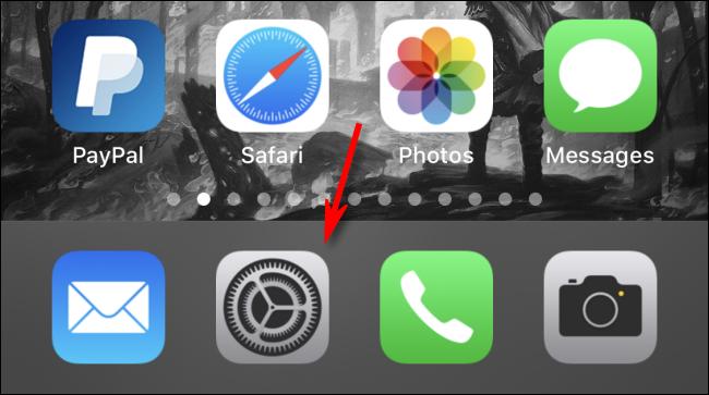 Icona ingranaggio impostazioni iphone ipad