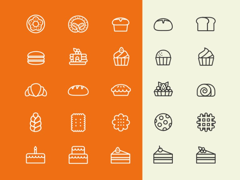 Free Bakery Icon Set