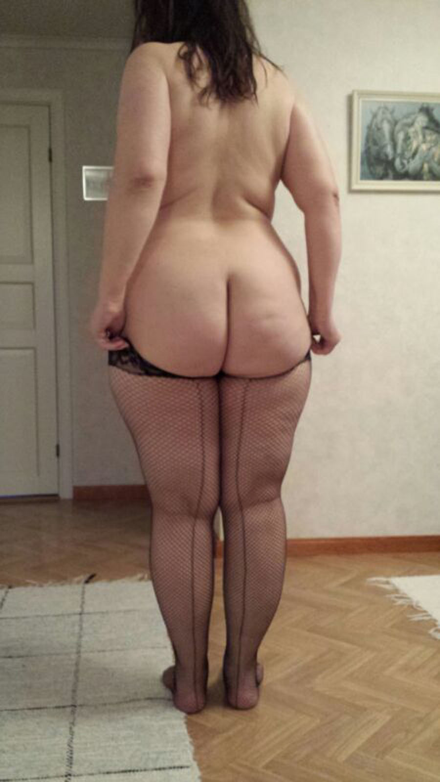 Nude fat lady ass