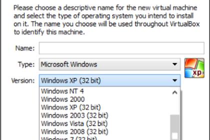 Tidak ada pilihan untuk windows 64bit saat membuat virtual mesin