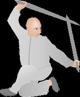 samurai practicando