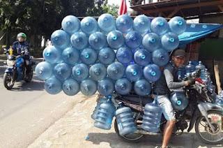 motor bawa beban banyak