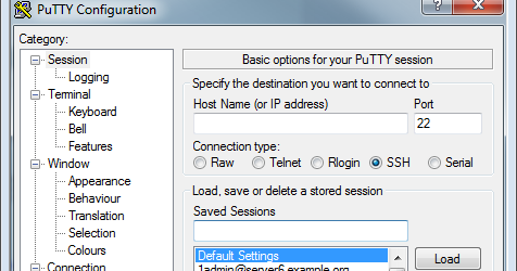 Flowstopper: Tabs and Saved Session Folders for PuTTY