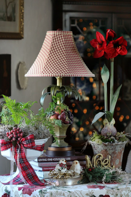 Christmas vignette in the great room.