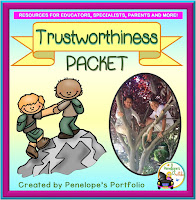 Trustworthiness Character Education - Social Skills Teaching Packet