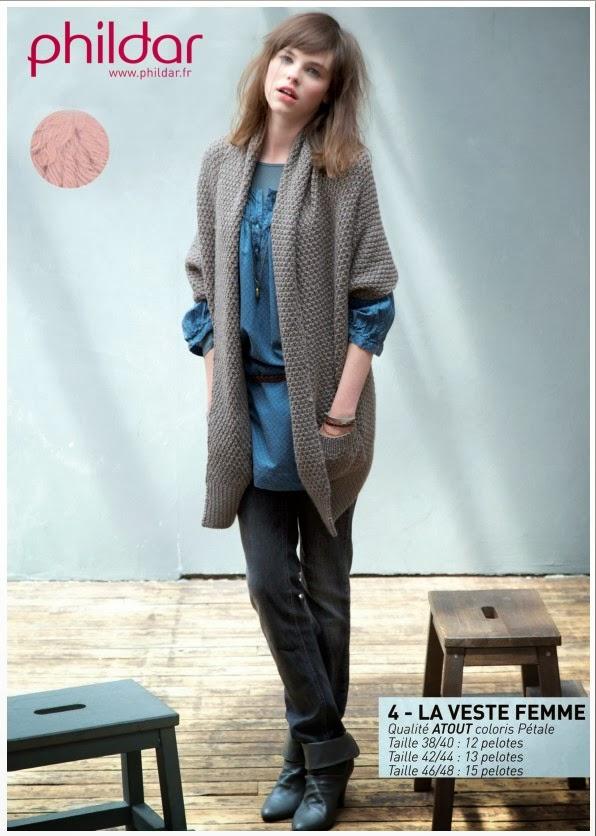 Veste femme a tricoter modele gratuit