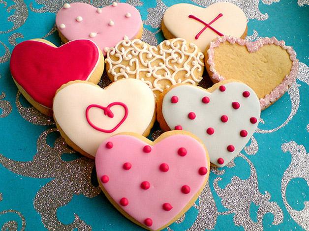receita biscoitos decorados coração