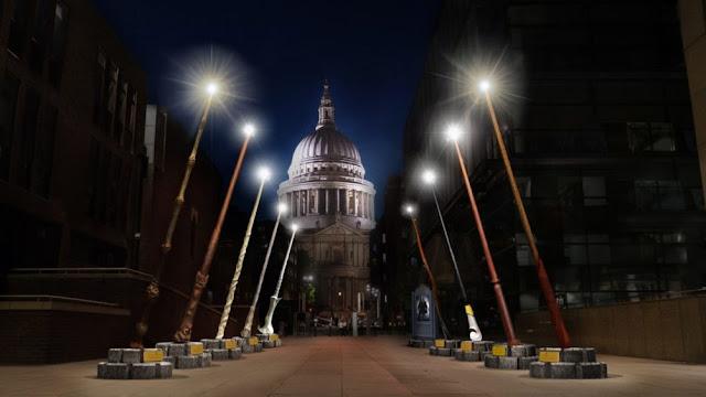 Vídeo: Exposição de varinhas gigantes em Londres em apoio à Lumos | Ordem da Fênix Brasileira