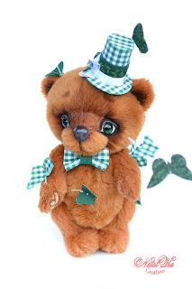 Авторский медведь тедди, мишка тедди, жонглирующий бабочками, тедди мишка, медвежонок тедди, Künstlerbär, Teddybär, Bär, Teddys, artistteddy bear, artist bear, ooak bear, one of a kind toy, handmade teddy, teddies with charm, NatalKa Creations