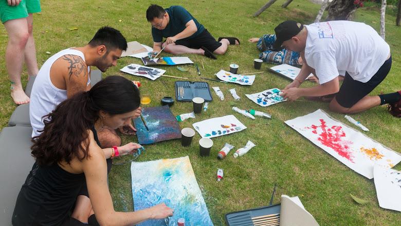 油畫繪畫時間
