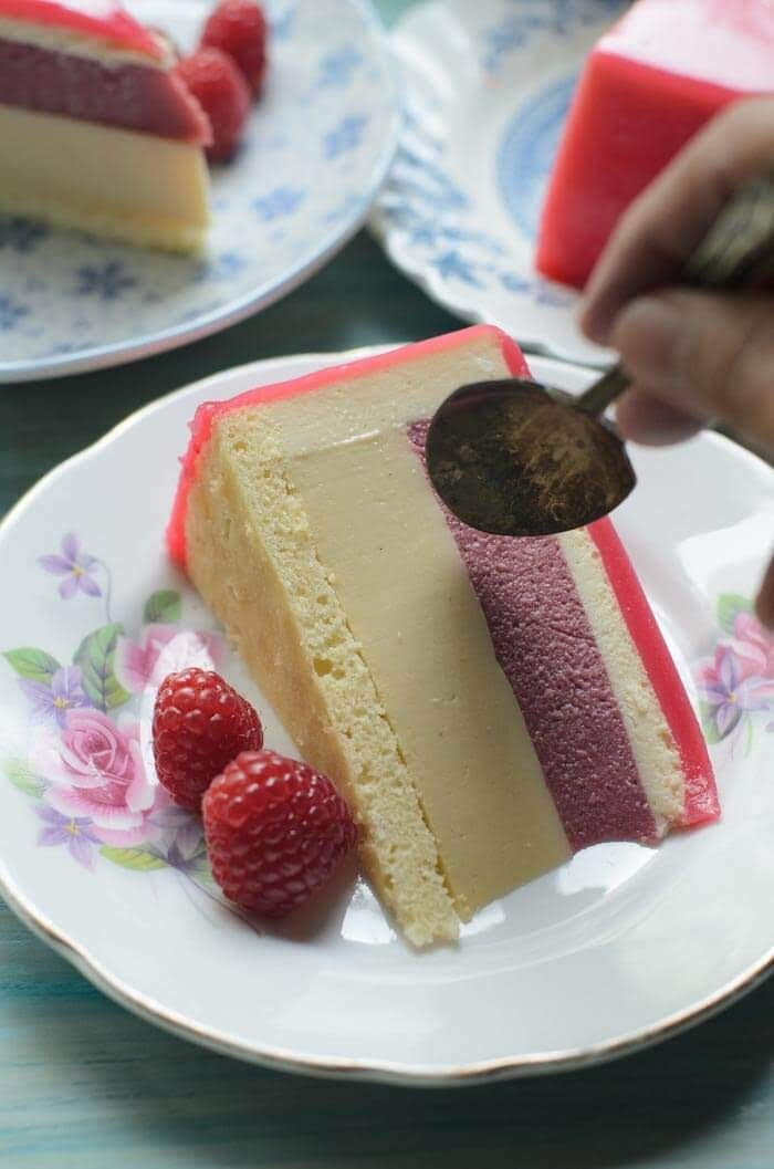 Honey and Raspberry Entremet