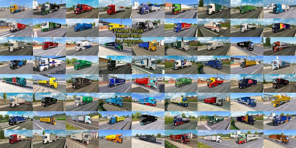 Jazzycat – Painted Truck Traffic Pack 2.9